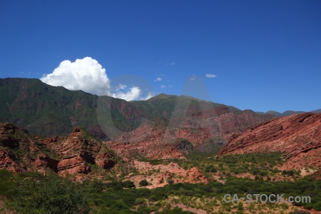 Bush quebrada de cafayate calchaqui valley sky south america.