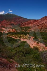 Bush valley quebrada de cafayate landscape las conchas.