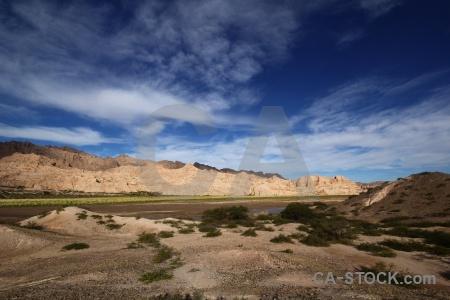 Calchaqui river south america rock cloud argentina.
