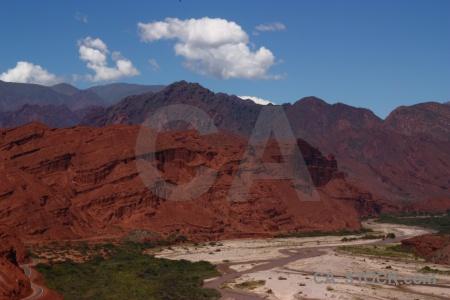 Calchaqui valley sky quebrada de las conchas rio reconquista bush.