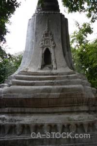 Cambodia asia tree stupa buddhism.