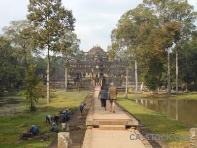 Cambodia baphuon water khmer tree.