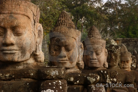 Cambodia lichen south gate buddhism asia.
