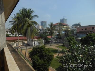 Cambodia prison tree sky torture.