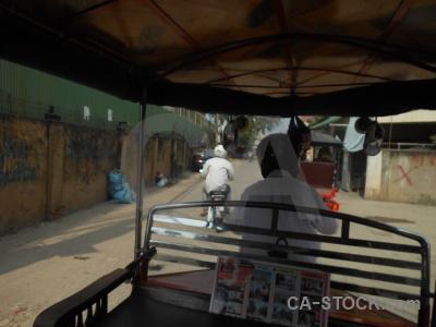 Cambodia rickshaw phnom penh tuktuk asia.