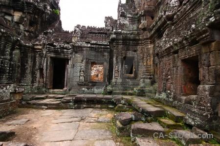 Cambodia sky carving buddhist stone.