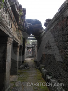 Cambodia southeast asia siem reap pillar banteay kdei.