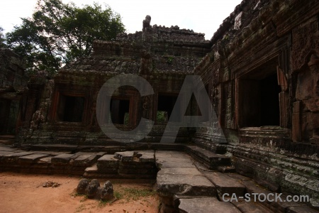Cambodia stone banteay kdei asia carving.