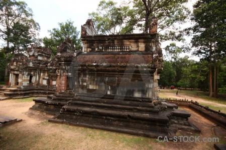 Cambodia stone siem reap ruin buddhism.