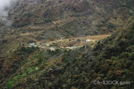 Campsite inca trail altitude andes.