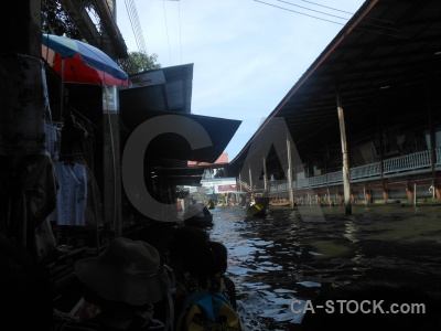 Canal ton khem market sky damnoen saduak.
