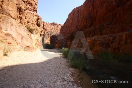 Canyon wadi cliff western asia jordan.