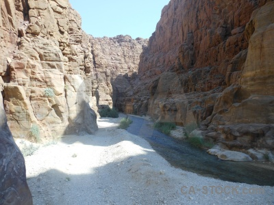 Canyon western asia middle east rock river.