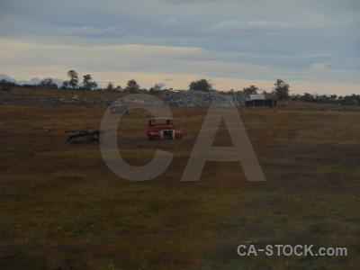 Car patagonia south america vehicle field.