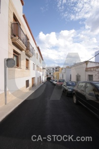 Car road building sky javea.