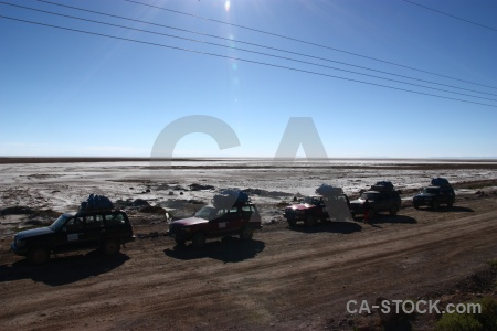 Car sky salt vehicle bolivia.