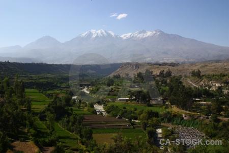 Carmen alto mountain peru chachani snowcap.