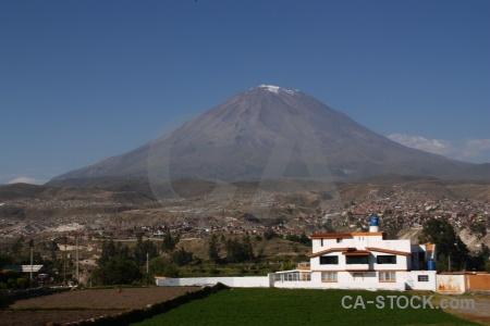 Carmen alto stratovolcano mountain el misti sky.