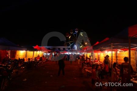 Carnival phonsavan asia funfair stall.