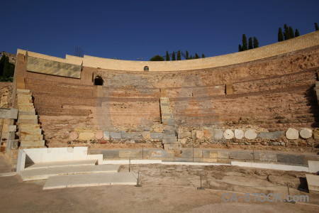 Cartagena brown spain amphitheatre roman.