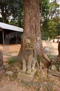 Carving asia ruin tree statue.