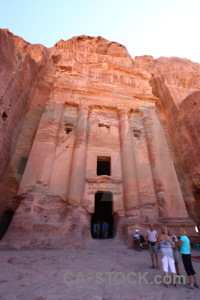 Carving petra rock nabataeans western asia.