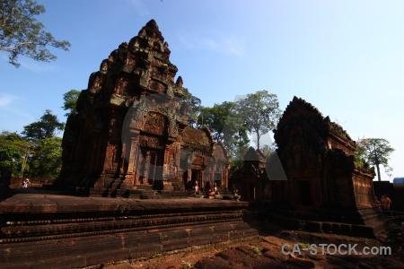 Carving ruin stone block cambodia.