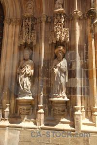 Carving statue iglesia catedral de santa maria building murcia.