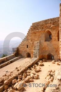 Castle ajloun stone western asia jordan.