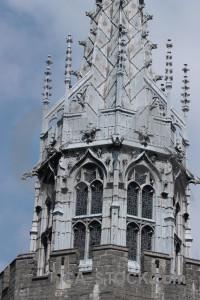 Castle building gray.