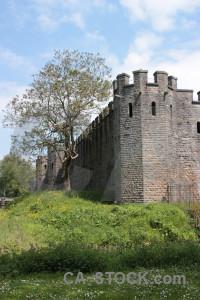 Castle building green.