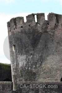 Castle building white.