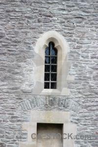 Castle building window gray.