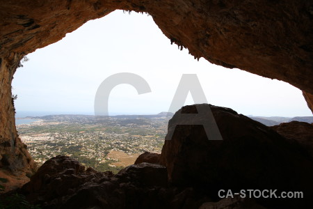 Cave europe rock montgo eye climb javea.