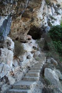 Cave javea rock spain montgo climb.