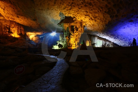 Cave southeast asia vietnam vinh ha long stalactite.