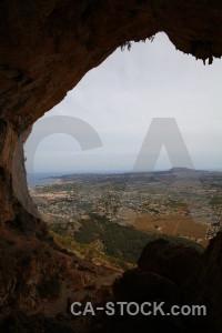 Cave spain javea rock europe.