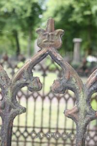 Cemetery green statue grave.