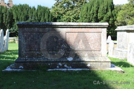 Cemetery green white statue grave.