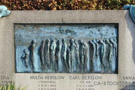 Cemetery statue grave.