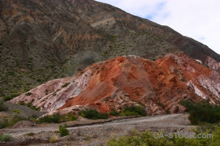 Cerro de los siete colores cloud argentina rock landscape.