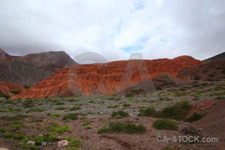 Cerro de los siete colores landscape cliff rock sky.
