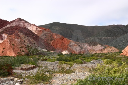 Cerro de los siete colores landscape cliff south america rock.