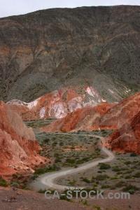 Cerro de los siete colores road purmamarca cloud cliff.