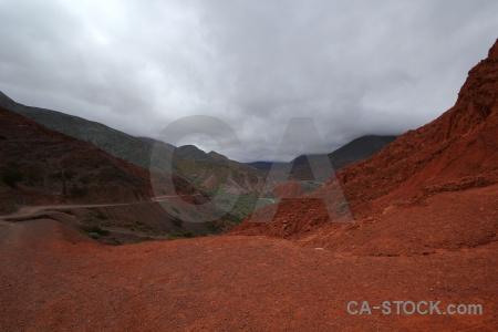 Cerro de los siete colores south america argentina mountain sky.