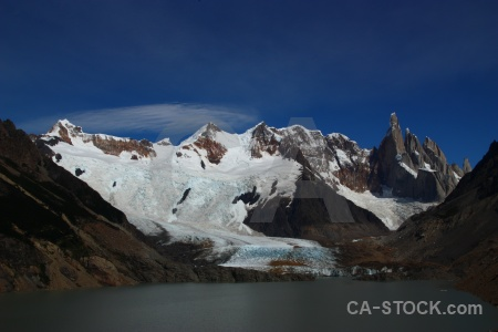 Cerro torre senda a laguna snow landscape southern patagonian ice field.