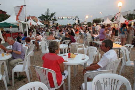 Chair person fiesta javea tent.