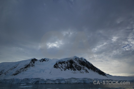 Channel water antarctic peninsula snowcap adelaide island.