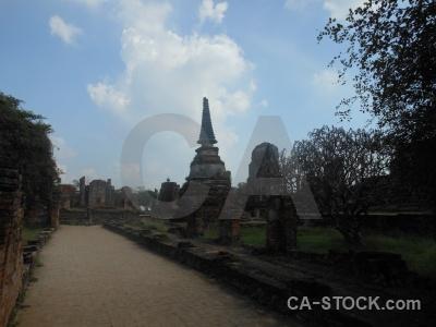 Chedi unesco thailand asia stupa.