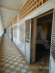 Chequered tuol sleng genocide museum cambodia torture s 21.